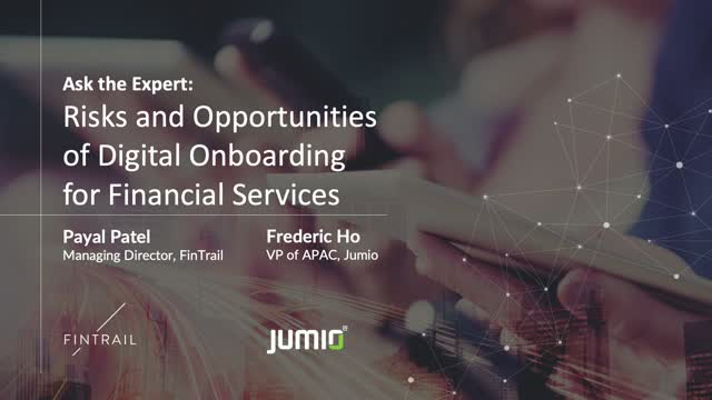 Risks and Opportunities of Digital Onboarding for Financial Services