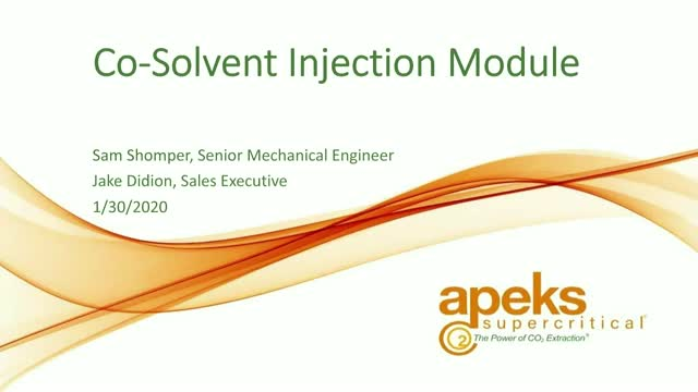 Co-Solvent Injection Module