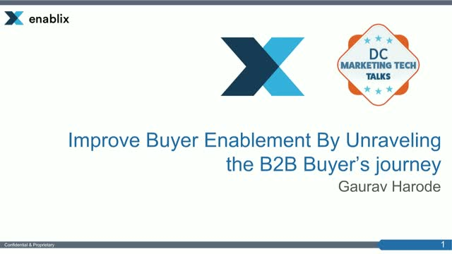 Improve Buyer Enablement by Unraveling the B2B Buyers Journey