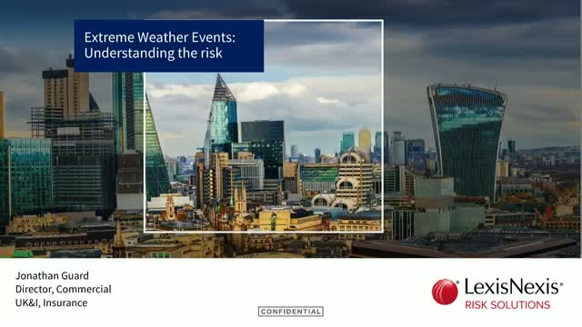 Extreme Weather Events:  Understanding the risk