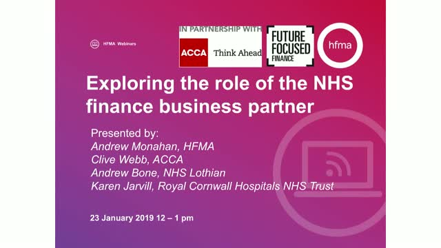Exploring the role of the NHS finance business partner