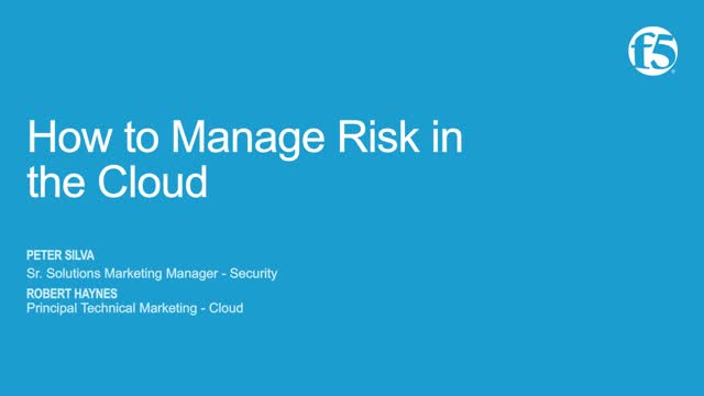 How to Manage Risk in the Cloud