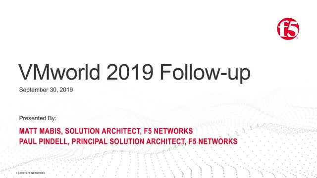 VMworld 2019 Follow-up
