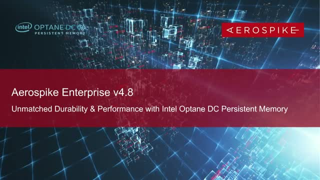 Durability & Performance with Intel® Optane™ DC PMEM