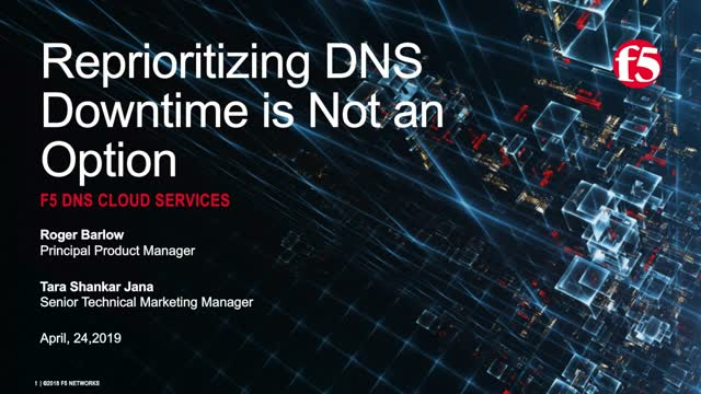 Reprioritizing DNS – Downtime is Not an Option