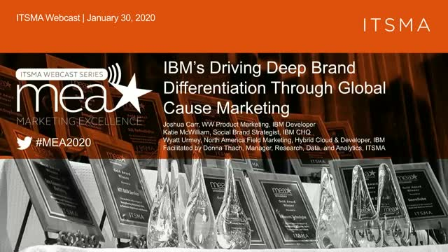 IBM's Driving Deep Brand Differentiation Through Global Cause Marketing