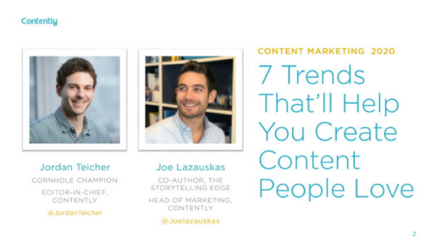 Content Marketing 2020: 7 Trends That'll Help You Create Content People Love