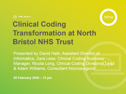 Clinical Coding Transformation at North Bristol NHS Trust