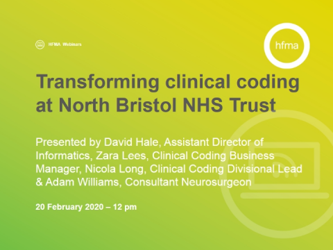 Transforming clinical coding at North Bristol NHS Trust