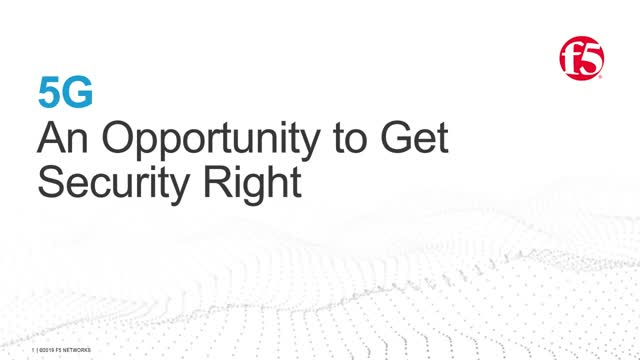 5G: An Opportunity to Get Security Right