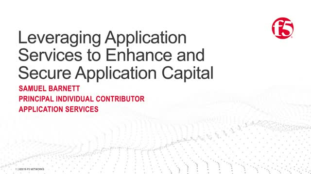 Leveraging Application Services to Enhance and Secure Application Capital