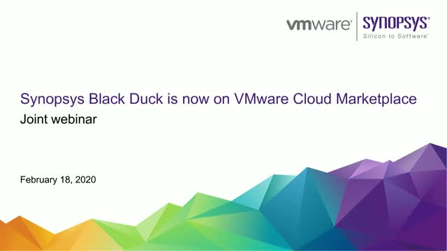 Synopsys Black Duck is now on the VMware Cloud Marketplace