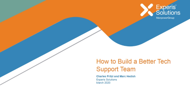 How to Build a Better Tech Support Team