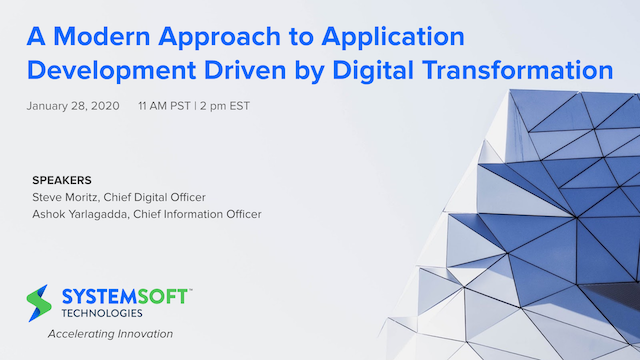 A Modern Approach to Application Development Driven by Digital Transformation