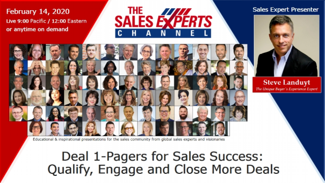 Deal 1-Pagers for Sales Success: Qualify, Engage and Close More Deals