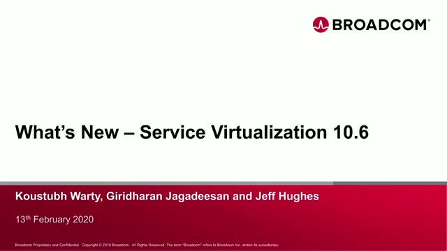 What's New with Service Virtualization 10.6?