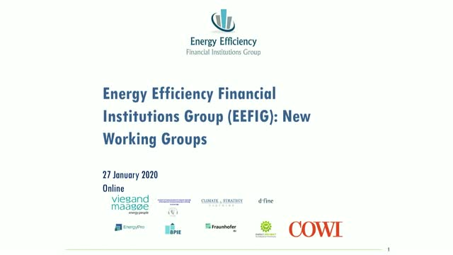 Energy Efficiency Financial Institutions Group (EEFIG) – New Working Groups