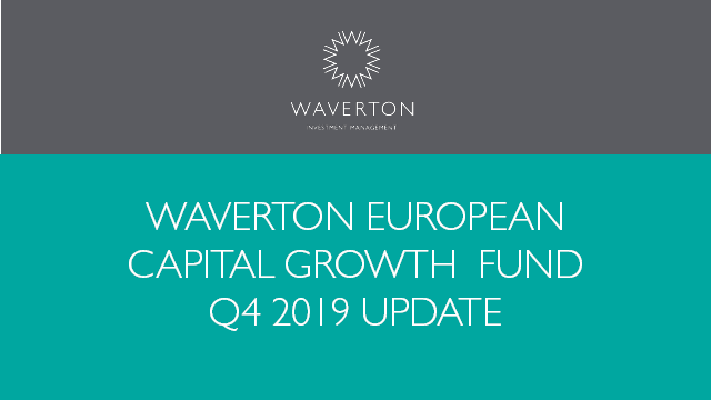 Waverton European Capital Growth Fund Update Q4 2019