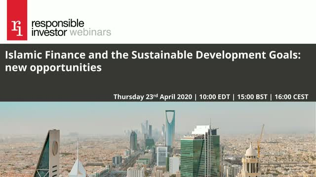 Islamic Finance, ESG integration and the SDGs: new opportunities