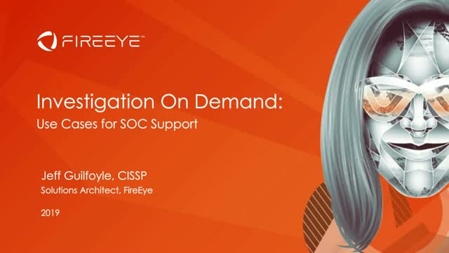 Investigation on Demand: Use Cases for SOC support