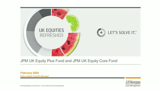 Bitesize 30-minute update: JPM UK Equities Webconference