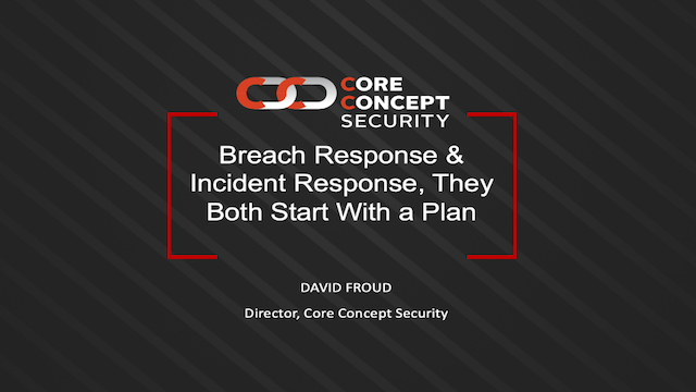 Breach Response & Incident Response, They Both Start With a Plan