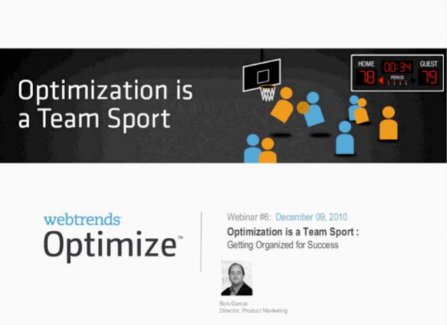 Optimization as a Team Sport: Getting Organized for Success