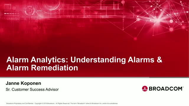 Alarm Analytics: Understanding Alarms & Alarm Remediation