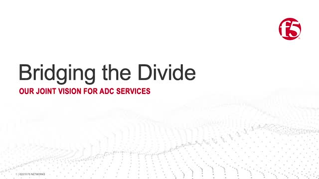 Bridging the Divide (Part 2 of 3): Our Joint Vision for ADC Services