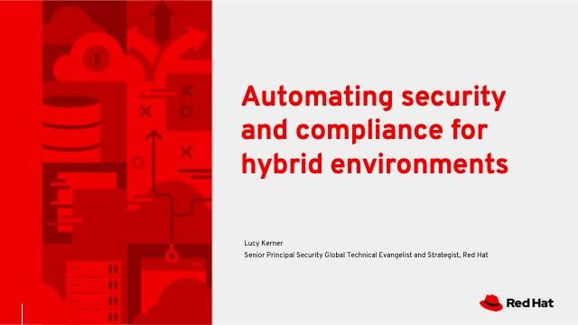 Automating security and compliance for hybrid environments