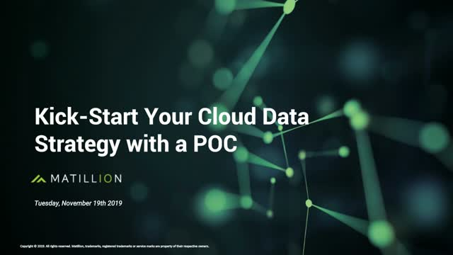 How to Kickstart Your Cloud Data Strategy With a PoC