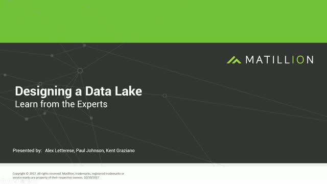 Designing a Data Lake: Learn from the Experts