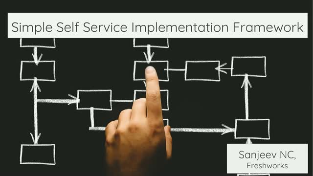 Self-service 1.0 - A simple self-service implementation framework