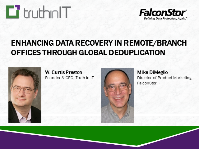 Enhancing Recovery in Remote/Branch Offices through Global Deduplication