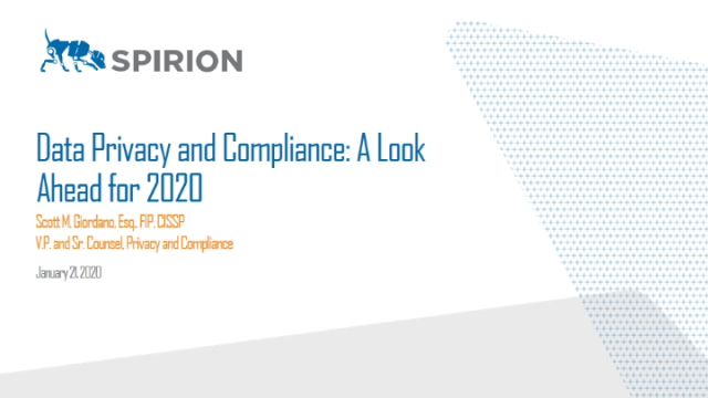 Data Privacy and Compliance: A Look Ahead for 2020
