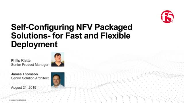 Self-Configuring NFV Packaged Solutions for Fast and Flexible Deployments