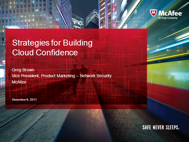Strategies for Building Cloud Confidence