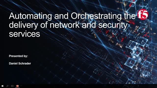Automating and Orchestrating the delivery of Network and Security Services