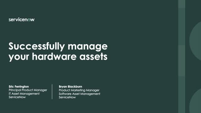 Successfully manage your hardware assets