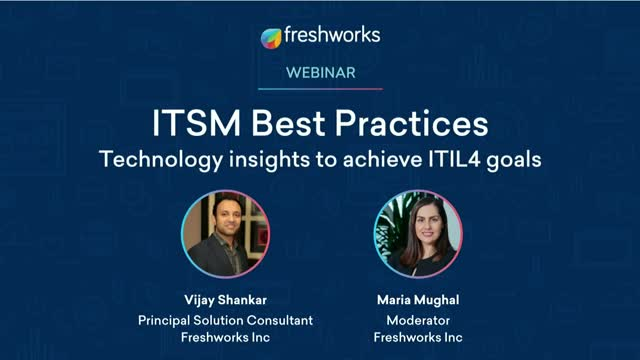 ITSM Best Practices - Technology insights to achieve ITIL4 goals