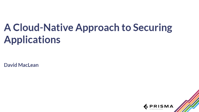 A Cloud-Native Approach to Securing Applications