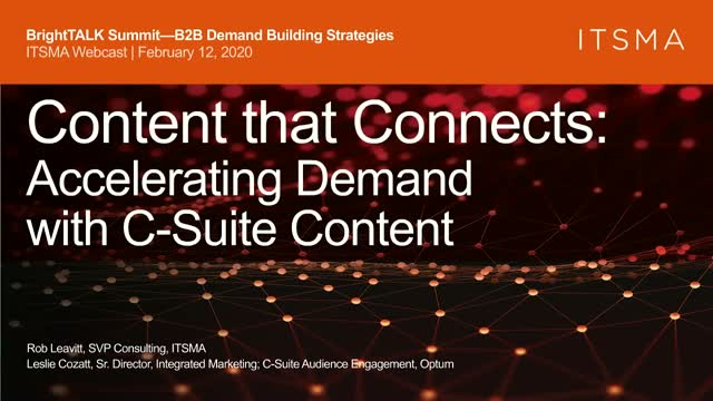 Content that Connects: Accelerating Demand with C-Suite Content