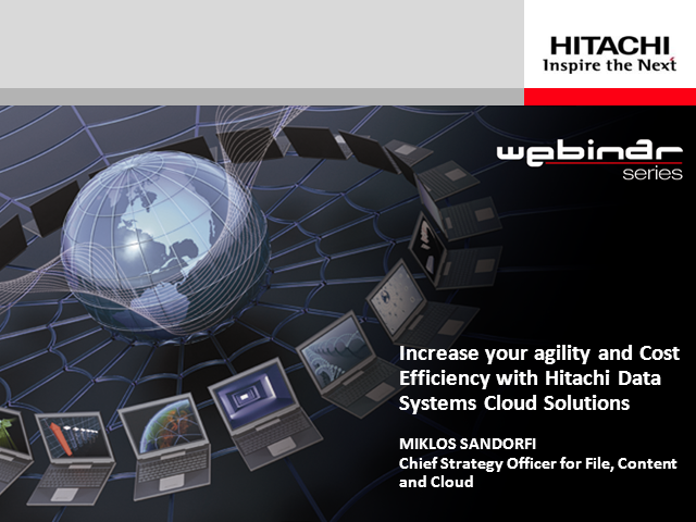 Increase Your IT Agility and Cost-efficiency with HDS Cloud Solutions