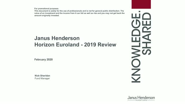 Euroland: A review of 2019