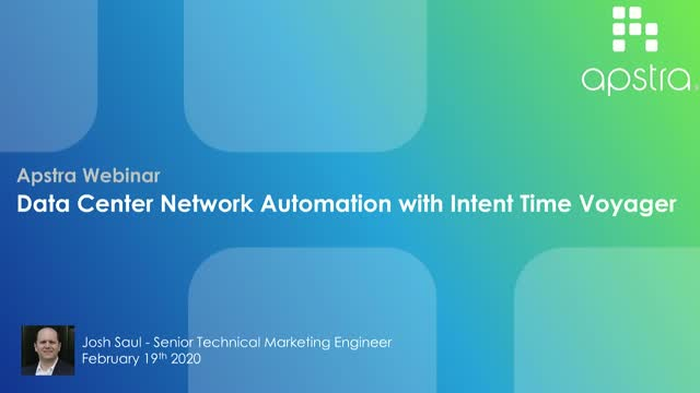 Data Center Network Automation with Intent Time Voyager