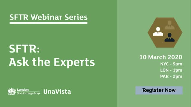 SFTR Webinar Series – Ask the Experts