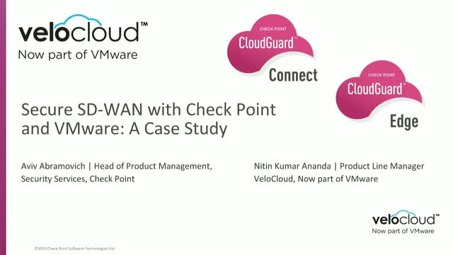 Secure SD-WAN with Check Point and VMware: A Case Study
