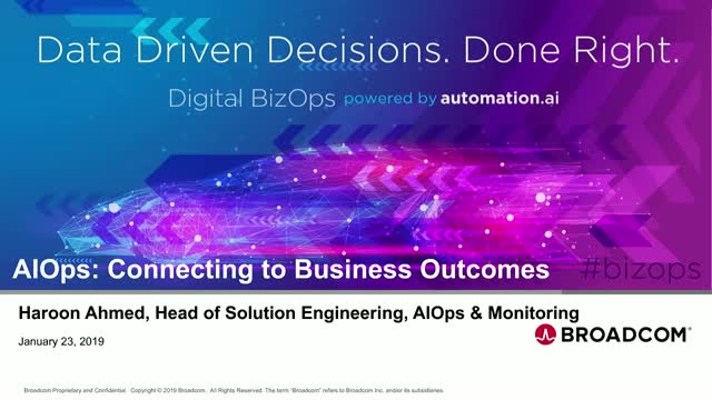 AIOps: Connecting to Business Outcomes