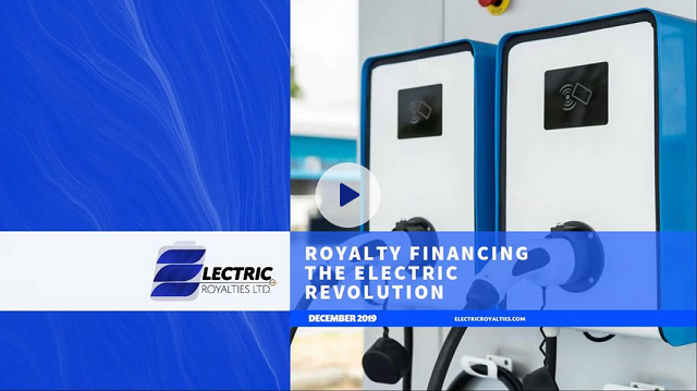 Electric Royalties - Royalty Financing the Electric Revolution