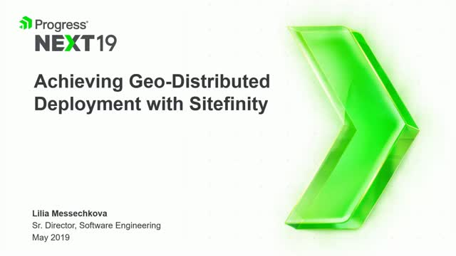 Achieving Geo-Distributed Deployment with Sitefinity